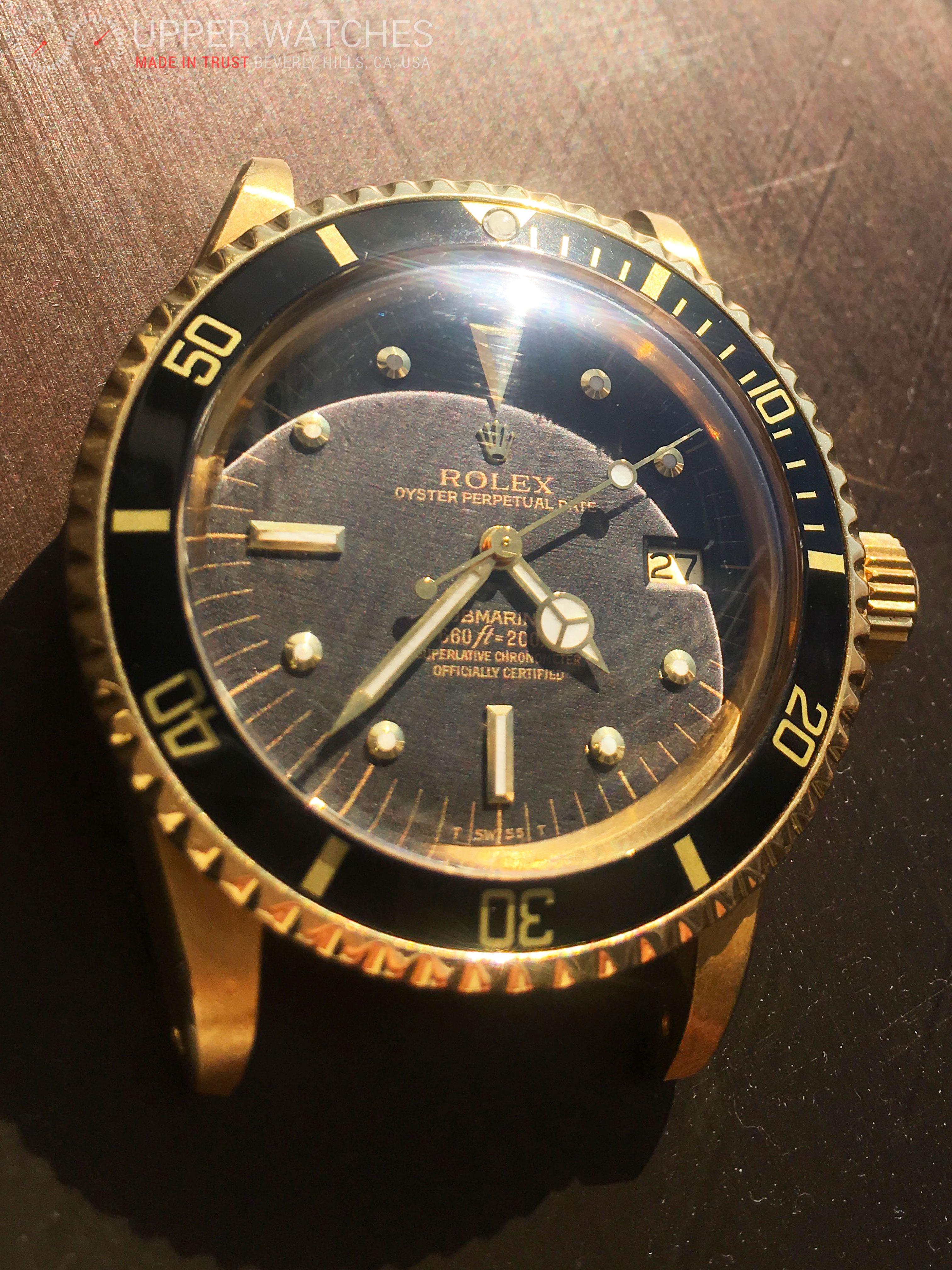 Rolex 1680 Submariner Gilt Black Nipple Dial - Upper Watches