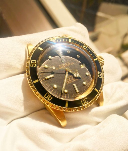 Rolex Submariner 1680 Gilt Black Nipple Dial 18k Solid Yellow Gold 1978