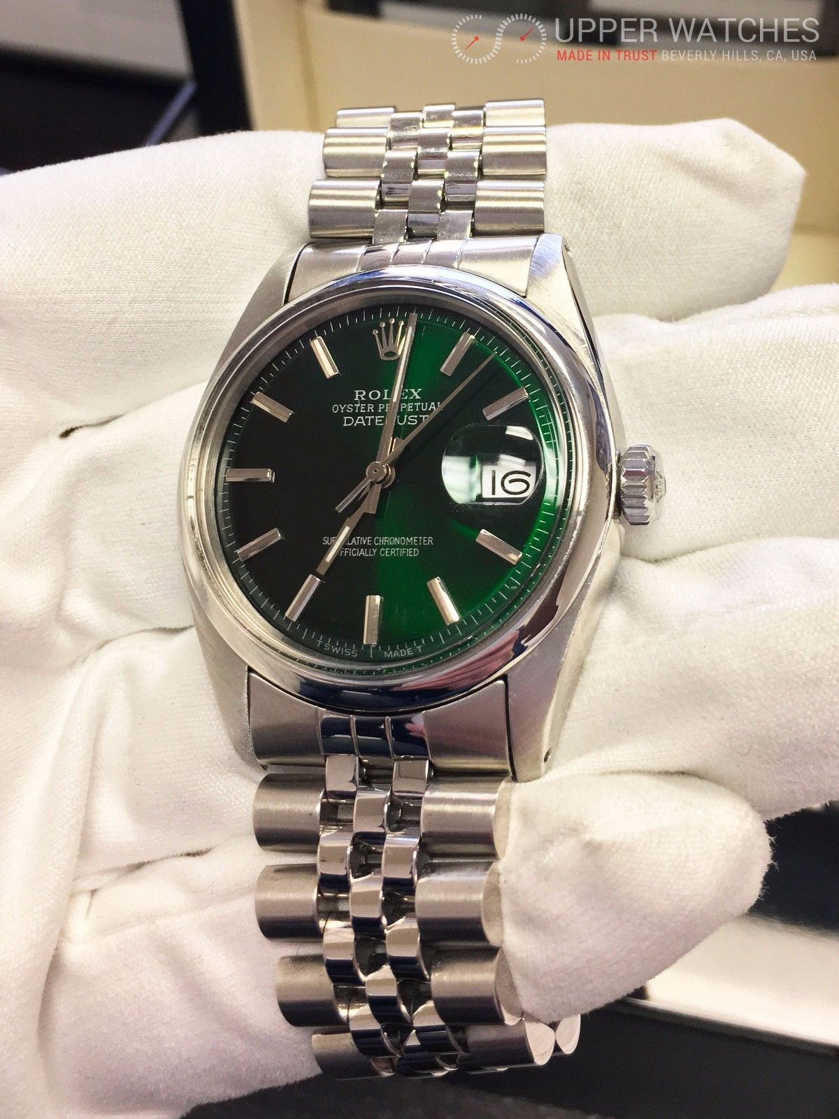 Rolex Datejust 1601 Green Hulk Dial Upper Watches