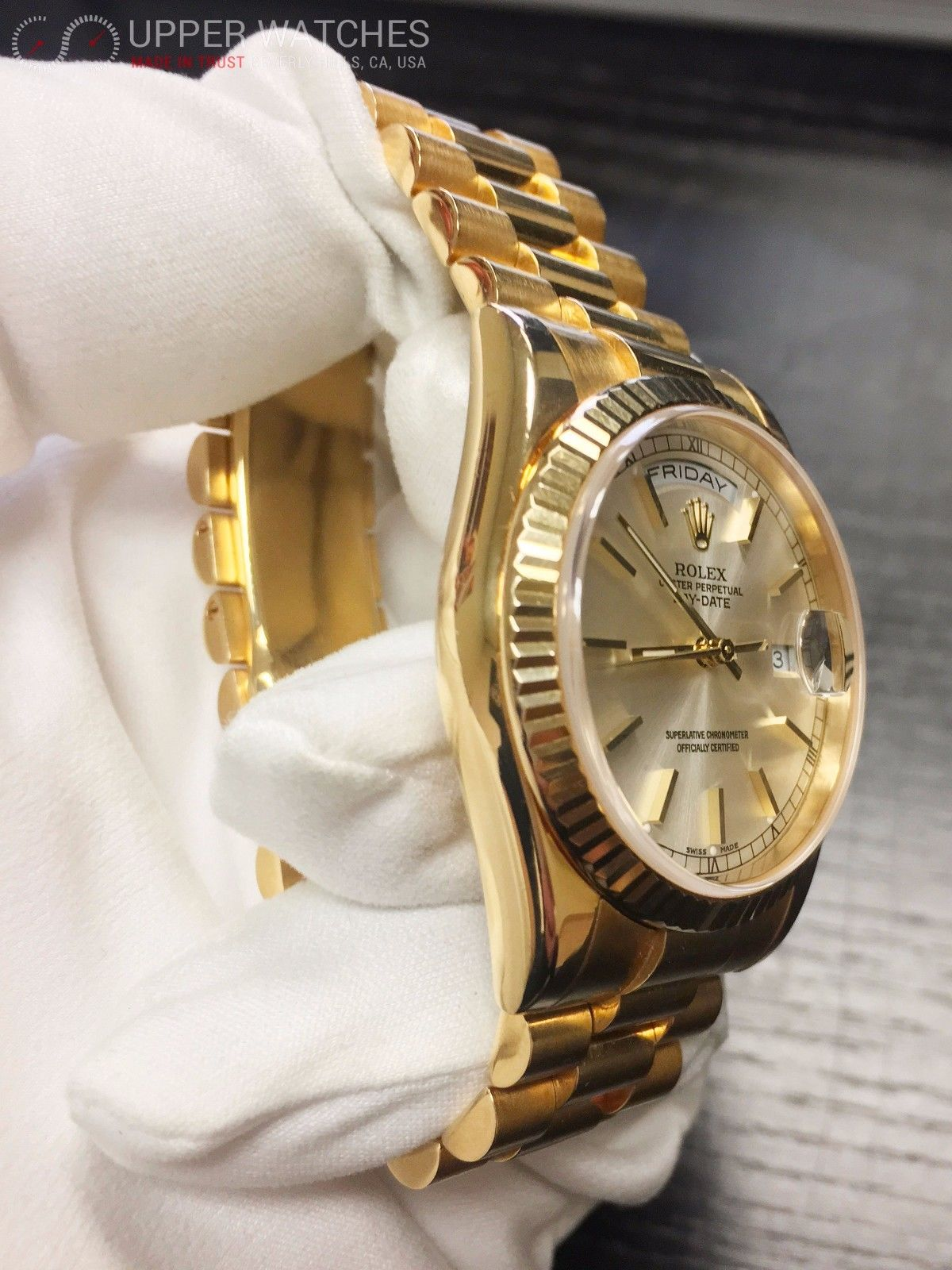 rolex product crown presidential watch gold collection p bezel watches dial factory solid the jewelry castle diamond