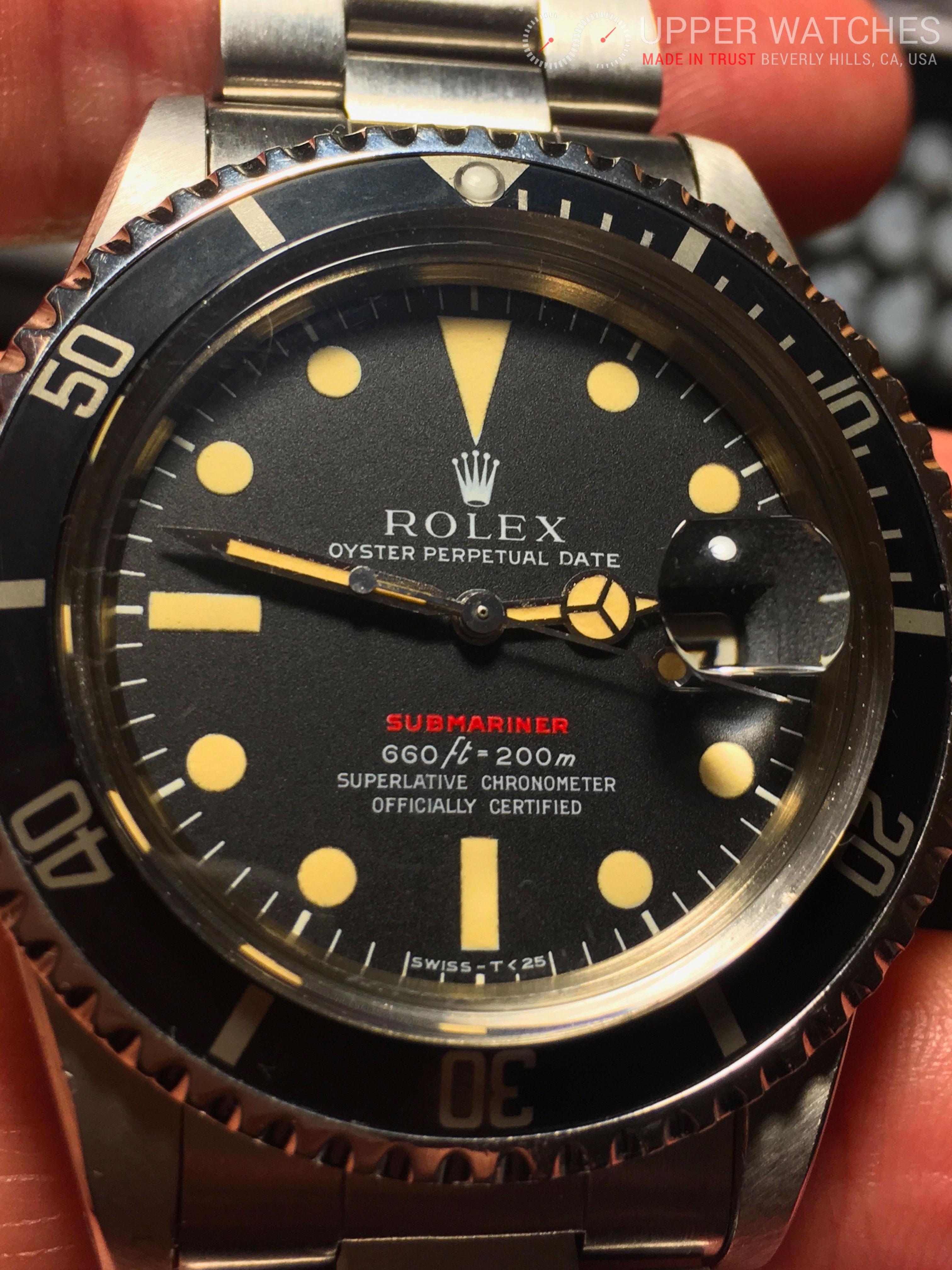 Used Rolex Submariner >> Rolex Red Submariner 1680 Circa 1972 - Upper Watches