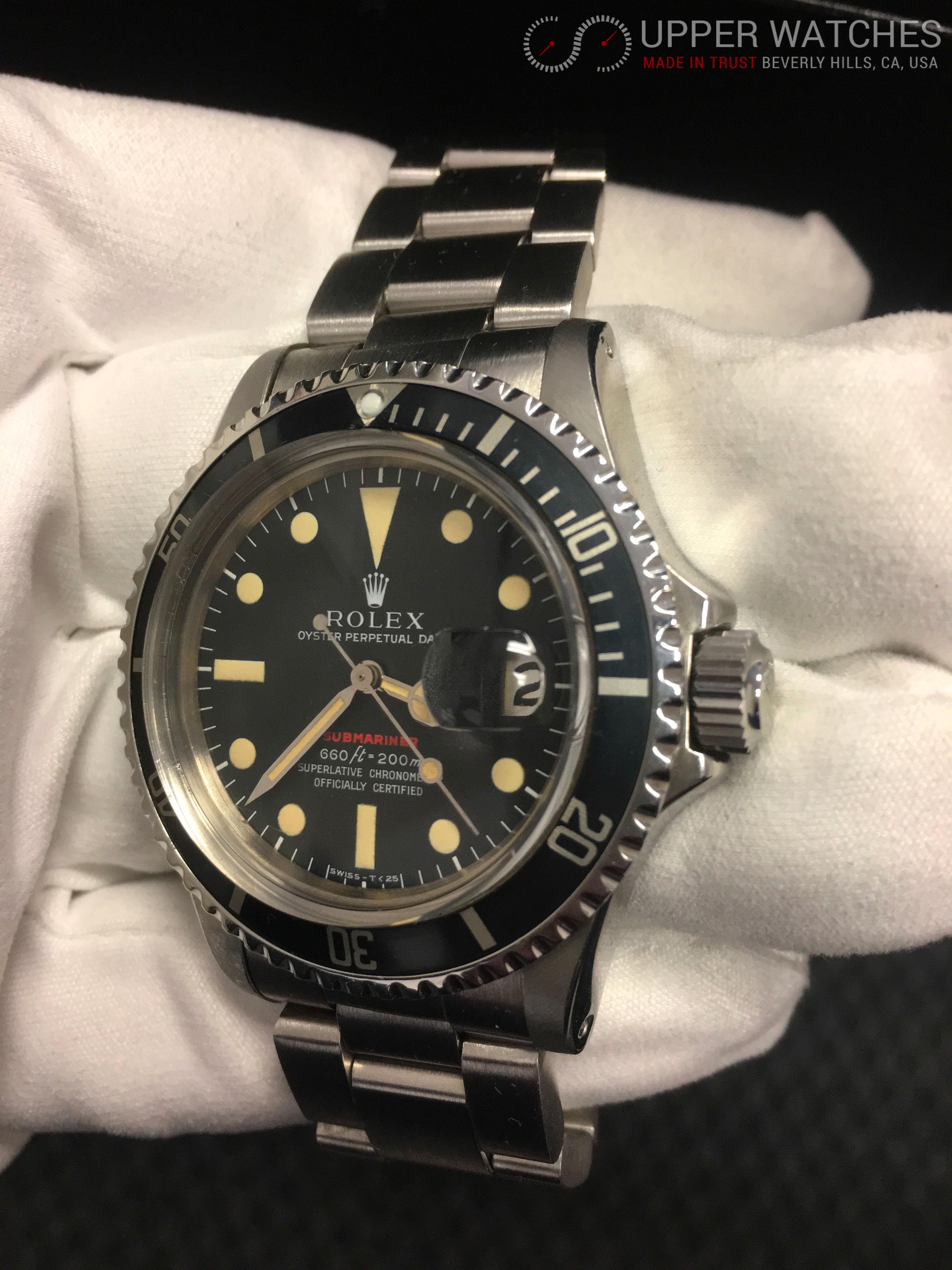 Rolex Red Submariner 1680 Circa 1972 Upper Watches
