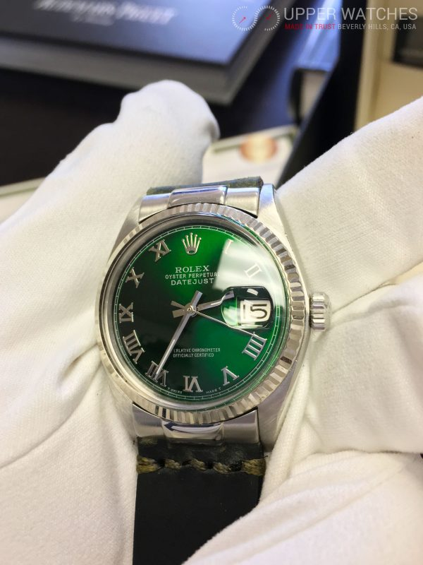 Rolex 1601 Datejust Green Hulk Dial , Upper Watches