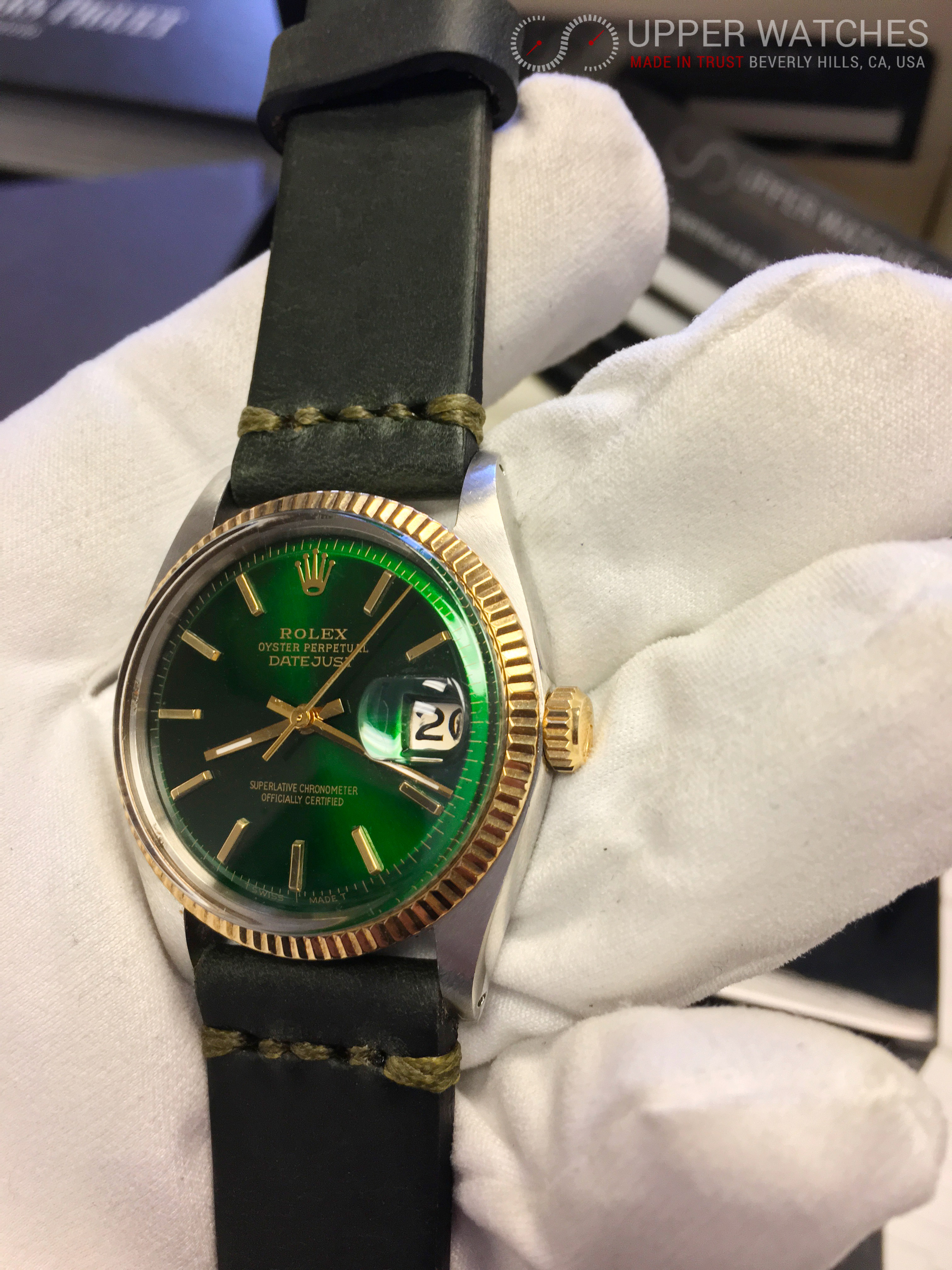 Rolex Datejust 1601 Green Dial Upper Watches