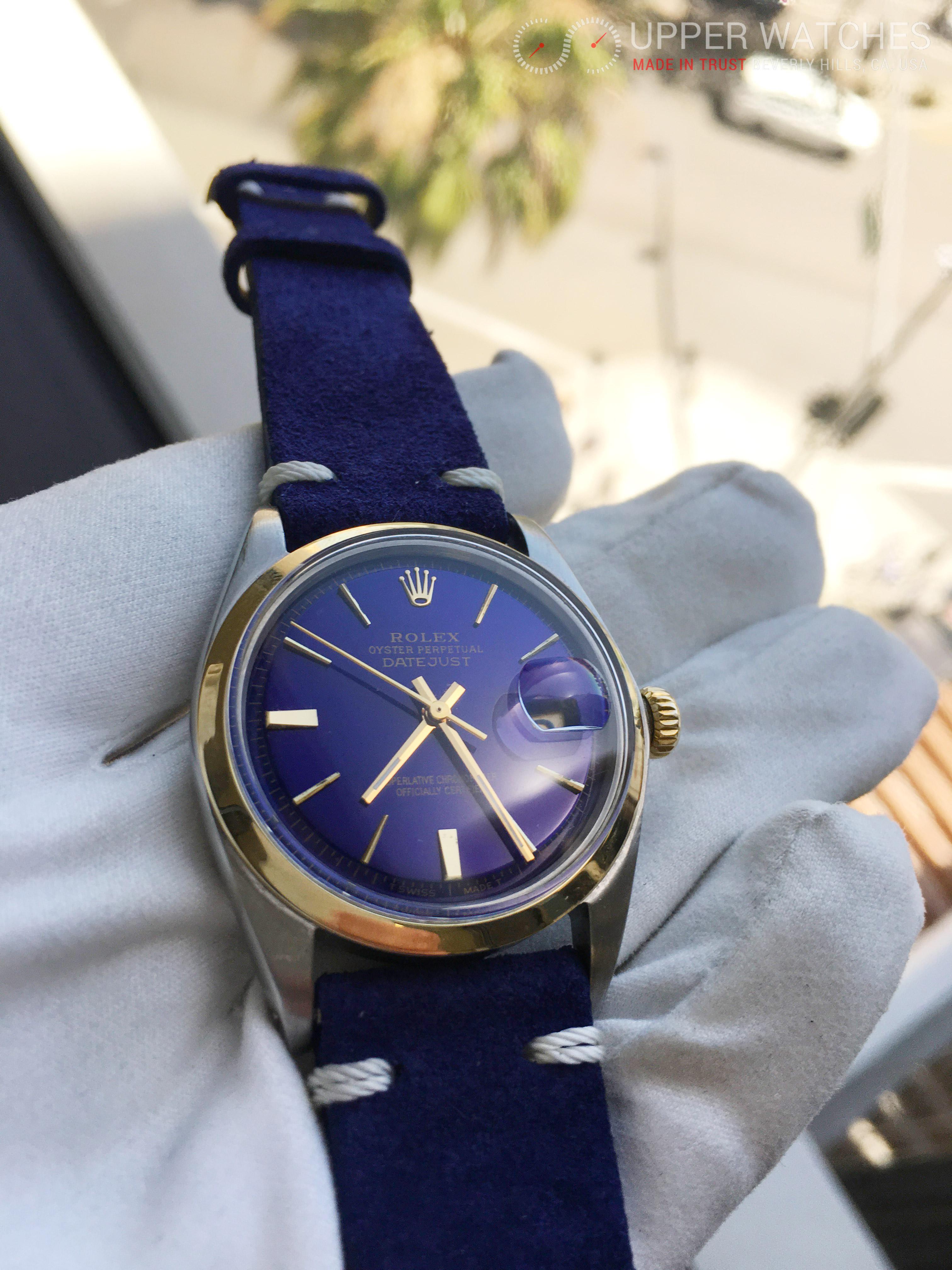 Rolex Datejust 1601 Blue Dial - Upper Watches