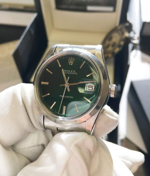 Rolex 6694 precision oyster perpetual green dial Hulk electric dial