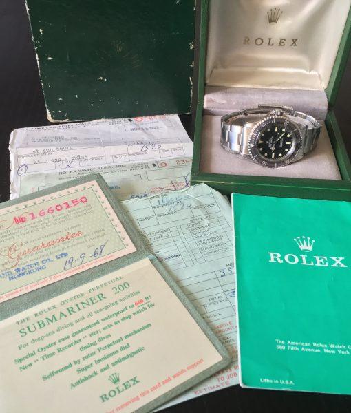 Rolex 5513 Submariner Meter First Box & paper