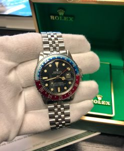 ROLEX 1675 GMT MASTER VINTAGE CIRCA 1967 with Box GORGEOUS Faded Pepsi Bezel