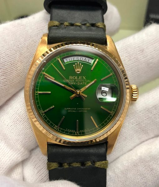 01-rolex-18038-gold-green-hulk-dial-leather-band-green