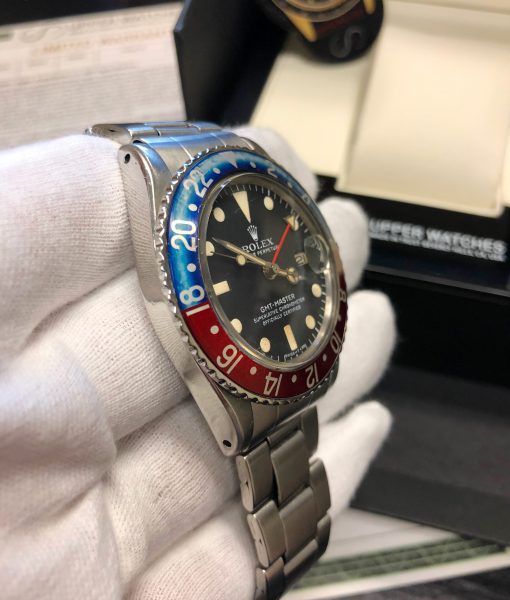 Rolex 1675 GMT MASTER PEPSI FADED INSERT OYSTER BAND Circa 1971